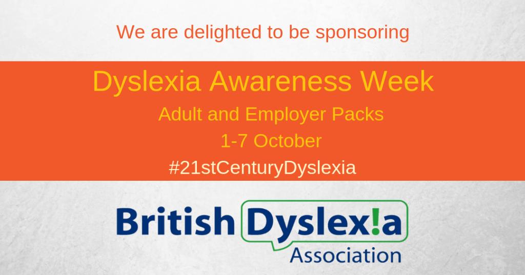Sponsorig Dyslexia Awareness Week