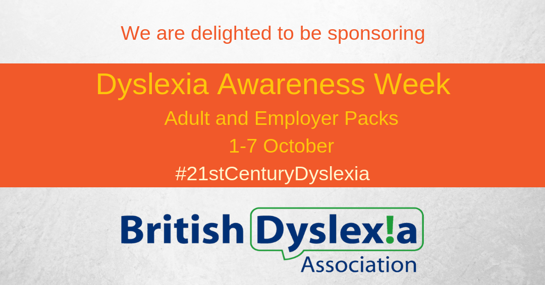 Sponsorig Dyslexia Awareness Week
